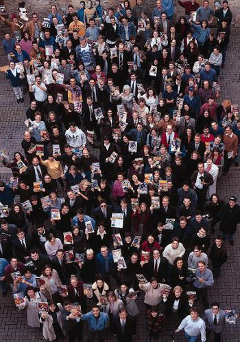The staff of Future Publishing in 1993. click to follow on to full sized and tagged Flickr imag