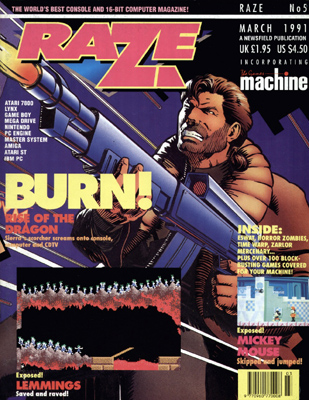 Raze issue cover
