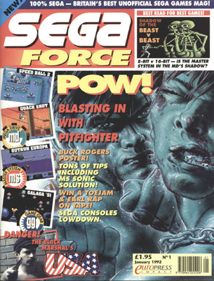Sega Force issue 1 cover